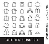 clothes icons | Shutterstock .eps vector #337134788