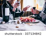 restaurant or bar table with... | Shutterstock . vector #337134842