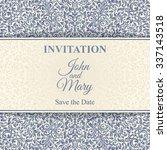 vintage invitation card... | Shutterstock .eps vector #337143518