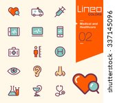 lineo colors   medical and... | Shutterstock .eps vector #337145096