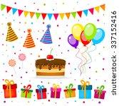 birthday party vector | Shutterstock .eps vector #337152416