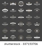 retro vintage logotypes or... | Shutterstock .eps vector #337153706