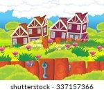cartoon scene   background  ... | Shutterstock . vector #337157366