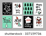 merry christmas and happy new... | Shutterstock .eps vector #337159736