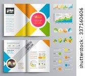 white brochure template design... | Shutterstock .eps vector #337160606