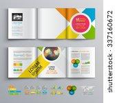 white brochure template design... | Shutterstock .eps vector #337160672
