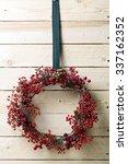Christmas Wreath Of Evergreen...