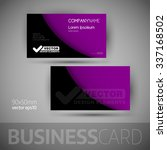 business card template with... | Shutterstock .eps vector #337168502