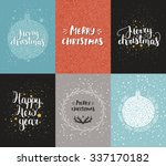 vector christmas and new year... | Shutterstock .eps vector #337170182