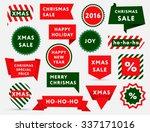 big set of christmas sale... | Shutterstock .eps vector #337171016