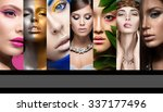 collection of art and evening... | Shutterstock . vector #337177496