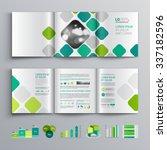 white brochure template design... | Shutterstock .eps vector #337182596