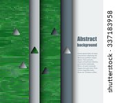 brochure template with abstract ... | Shutterstock .eps vector #337183958