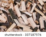 Firewood Background   Chopped...