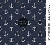 seamless anchor pattern. | Shutterstock .eps vector #337189712