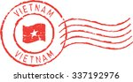 postal grunge stamp 'vietnam' | Shutterstock .eps vector #337192976