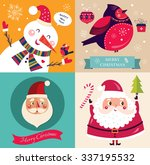christmas beautiful cheerful... | Shutterstock .eps vector #337195532