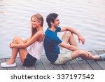 enjoying time together....   Shutterstock . vector #337197542