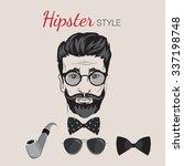 hipster design set. men... | Shutterstock .eps vector #337198748