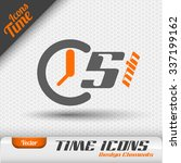 time icon on the gray... | Shutterstock .eps vector #337199162