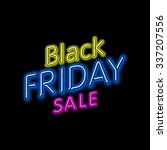 black friday hanging sign.... | Shutterstock .eps vector #337207556