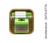 shiny lime vintage typewriter...