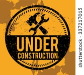 under construction concept with ... | Shutterstock .eps vector #337217015