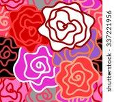floral seamless vector pattern. ... | Shutterstock .eps vector #337221956