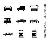 transportation icons. flat...   Shutterstock .eps vector #337222388