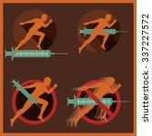 doping in sport conceptual...   Shutterstock .eps vector #337227572