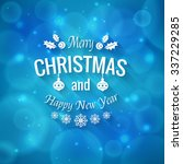 merry christmas greetings logo...   Shutterstock .eps vector #337229285