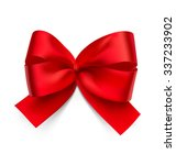 red bow isolated on white... | Shutterstock .eps vector #337233902