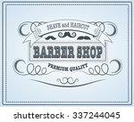 barber shop vintage design... | Shutterstock .eps vector #337244045