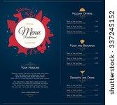 special christmas festive menu... | Shutterstock .eps vector #337245152