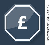 white pound icon on plum blue... | Shutterstock . vector #337255142