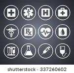 health care and medicine on... | Shutterstock .eps vector #337260602