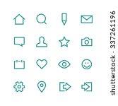 social network icon set  ...   Shutterstock .eps vector #337261196