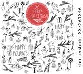 hand drawn doodle vector... | Shutterstock .eps vector #337261346