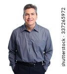 handsome smiling businessman.... | Shutterstock . vector #337265972