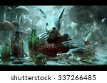 Stock photo white rabbit illustration to the book alice in wonderland 337266485