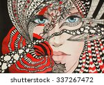 abstract painting of charms and ... | Shutterstock . vector #337267472