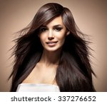fashion model with long... | Shutterstock . vector #337276652