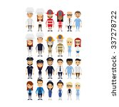 set of people with different... | Shutterstock .eps vector #337278722