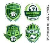 set of soccer football crests... | Shutterstock .eps vector #337279562