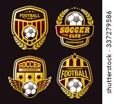 set of soccer football crests... | Shutterstock .eps vector #337279586