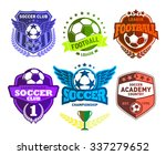 set of soccer football crests... | Shutterstock .eps vector #337279652