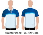detailed shaded polo tshirt on...   Shutterstock .eps vector #33729058