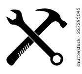 crossed wrench and hammer... | Shutterstock .eps vector #337295045