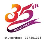 anniversary emblems 35 in... | Shutterstock .eps vector #337301315