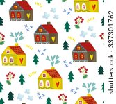 lovely vector seamless pattern... | Shutterstock .eps vector #337301762